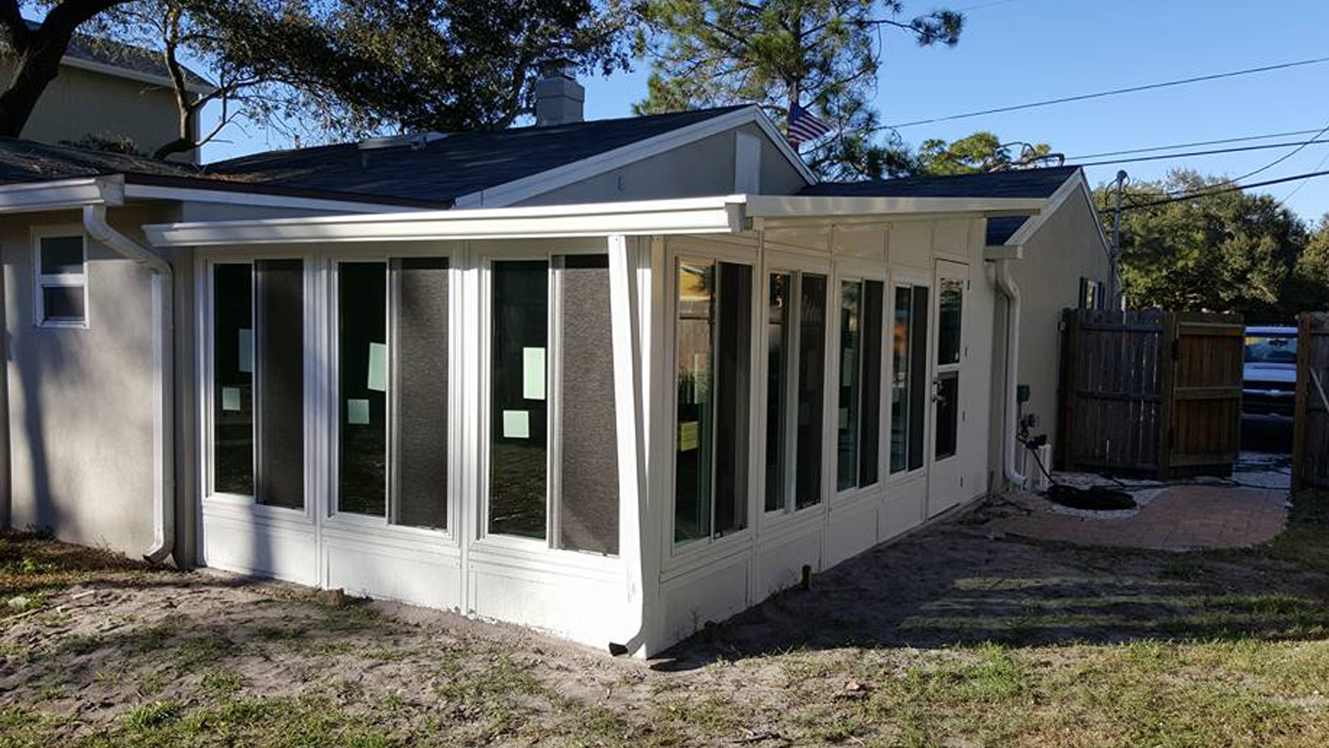 Sunroom custom built for a home in Lakeland, FL.
