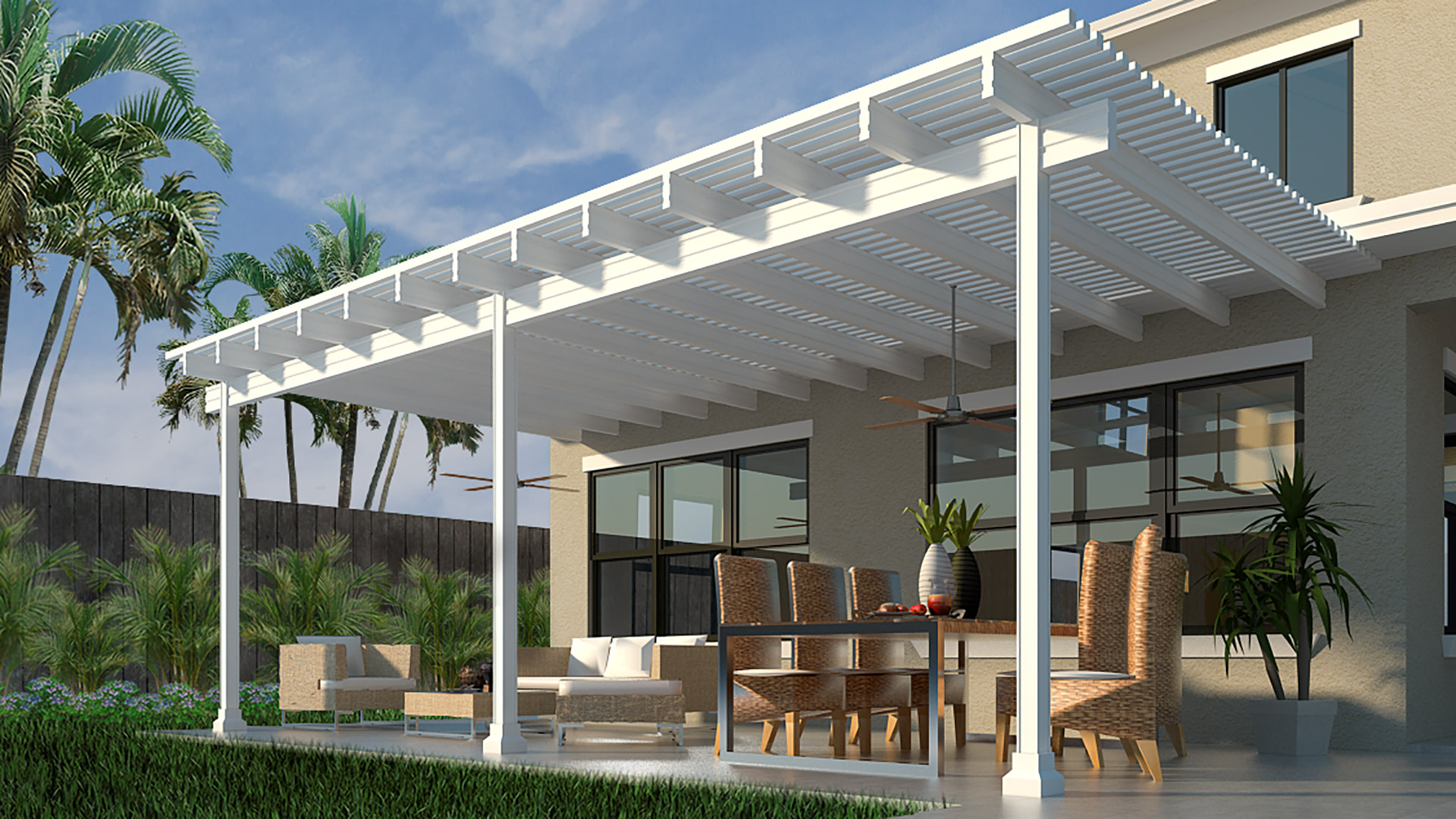 Will an Aluminum Pergola Blend Well With My Florida Landscape?
